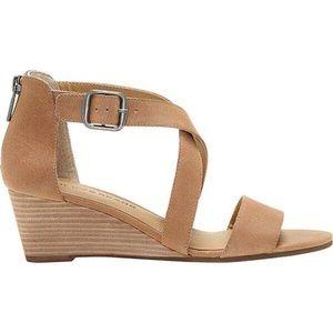 Lucky Brand NEW Jenley Wedge Sandal Dark Camel